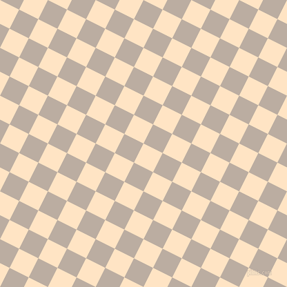 63/153 degree angle diagonal checkered chequered squares checker pattern checkers background, 31 pixel squares size, , Bisque and Silk checkers chequered checkered squares seamless tileable