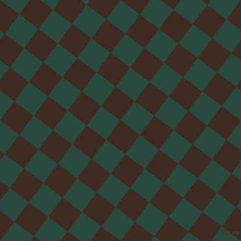 53/143 degree angle diagonal checkered chequered squares checker pattern checkers background, 49 pixel square size, , Bistre and Te Papa Green checkers chequered checkered squares seamless tileable
