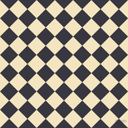 45/135 degree angle diagonal checkered chequered squares checker pattern checkers background, 42 pixel square size, , Black Marlin and Milk Punch checkers chequered checkered squares seamless tileable
