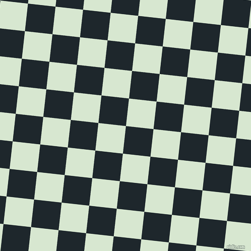 84/174 degree angle diagonal checkered chequered squares checker pattern checkers background, 55 pixel square size, , Black Pearl and Peppermint checkers chequered checkered squares seamless tileable