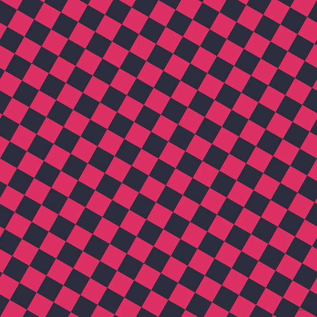 60/150 degree angle diagonal checkered chequered squares checker pattern checkers background, 39 pixel square size, , Black Rock and Cerise checkers chequered checkered squares seamless tileable