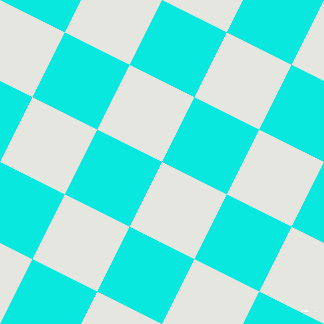 63/153 degree angle diagonal checkered chequered squares checker pattern checkers background, 146 pixel square size, , Black Squeeze and Bright Turquoise checkers chequered checkered squares seamless tileable
