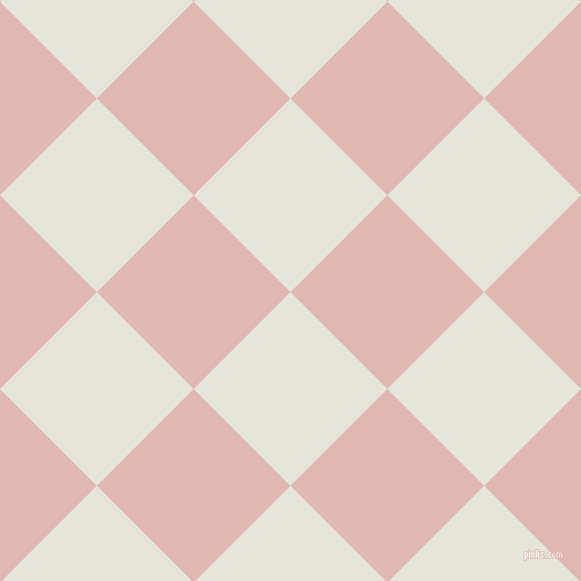 45/135 degree angle diagonal checkered chequered squares checker pattern checkers background, 124 pixel square size, , Black White and Cavern Pink checkers chequered checkered squares seamless tileable