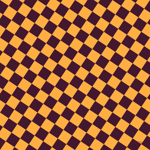 56/146 degree angle diagonal checkered chequered squares checker pattern checkers background, 35 pixel squares size, , Blackberry and Yellow Orange checkers chequered checkered squares seamless tileable