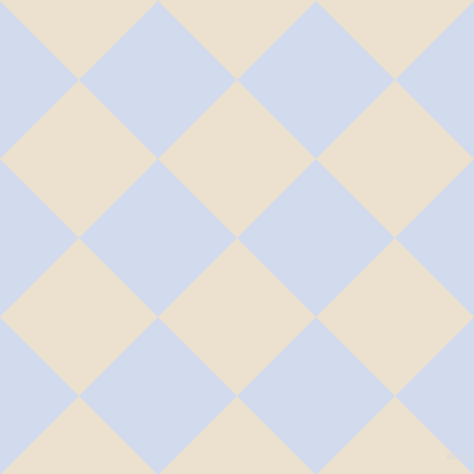 45/135 degree angle diagonal checkered chequered squares checker pattern checkers background, 162 pixel square size, , Bleach White and Hawkes Blue checkers chequered checkered squares seamless tileable