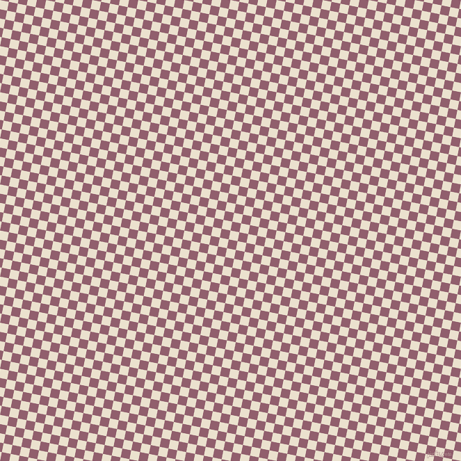 79/169 degree angle diagonal checkered chequered squares checker pattern checkers background, 13 pixel square size, , Bleach White and Mauve Taupe checkers chequered checkered squares seamless tileable