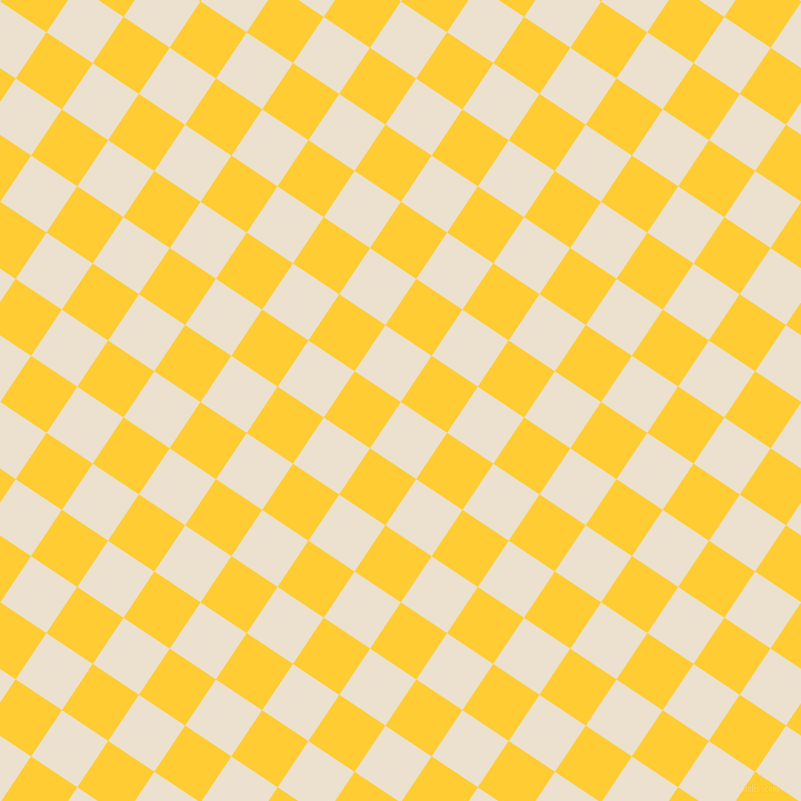 56/146 degree angle diagonal checkered chequered squares checker pattern checkers background, 50 pixel squares size, , Bleach White and Sunglow checkers chequered checkered squares seamless tileable