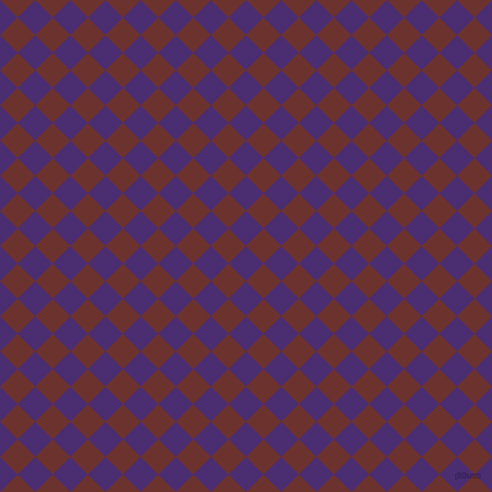 45/135 degree angle diagonal checkered chequered squares checker pattern checkers background, 35 pixel square size, , Blue Diamond and Kenyan Copper checkers chequered checkered squares seamless tileable