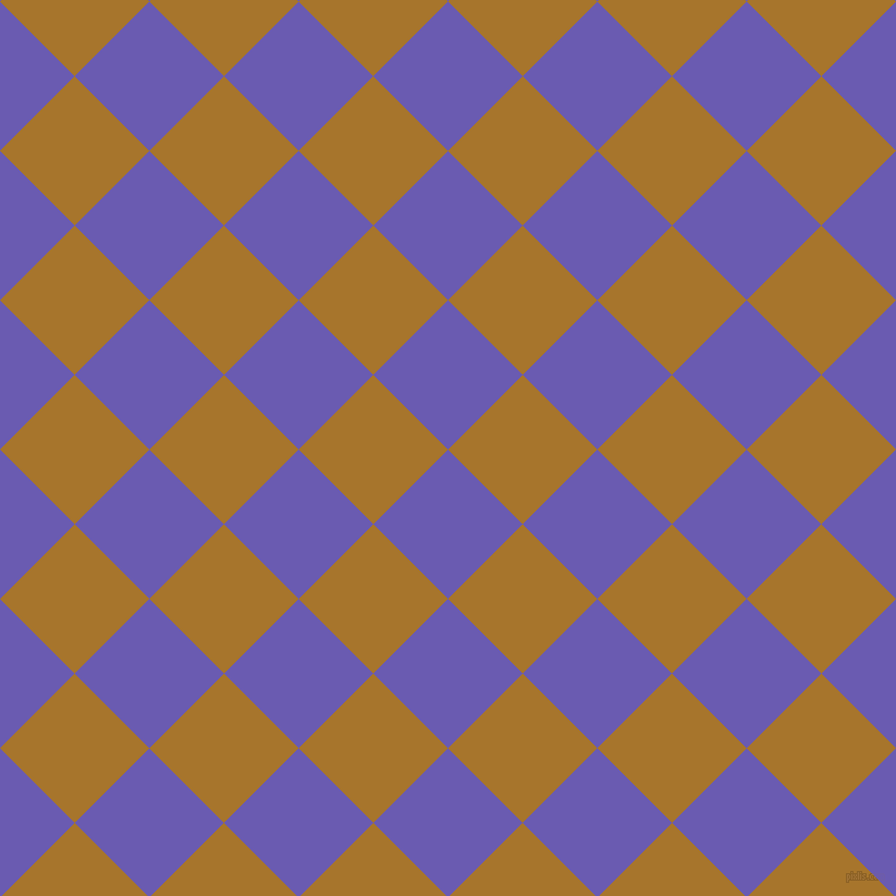 45/135 degree angle diagonal checkered chequered squares checker pattern checkers background, 97 pixel squares size, , Blue Marguerite and Hot Toddy checkers chequered checkered squares seamless tileable