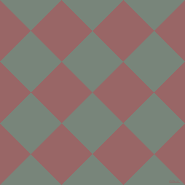 45/135 degree angle diagonal checkered chequered squares checker pattern checkers background, 147 pixel square size, , Blue Smoke and Copper Rose checkers chequered checkered squares seamless tileable