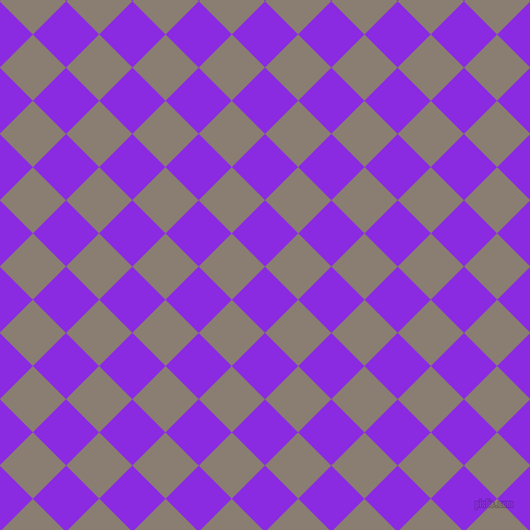 45/135 degree angle diagonal checkered chequered squares checker pattern checkers background, 43 pixel squares size, , Blue Violet and Americano checkers chequered checkered squares seamless tileable