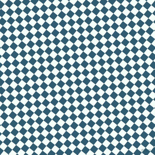 51/141 degree angle diagonal checkered chequered squares checker pattern checkers background, 23 pixel squares size, , Blumine and Mint Cream checkers chequered checkered squares seamless tileable