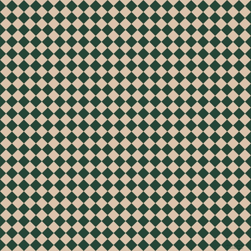 45/135 degree angle diagonal checkered chequered squares checker pattern checkers background, 17 pixel squares size, , Bone and Bottle Green checkers chequered checkered squares seamless tileable