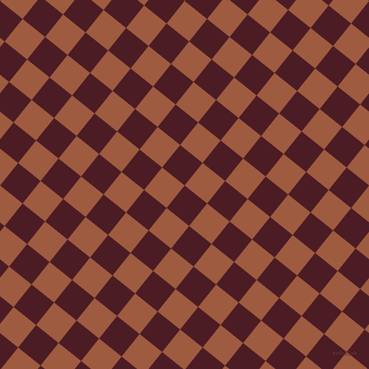 51/141 degree angle diagonal checkered chequered squares checker pattern checkers background, 41 pixel square size, , Bordeaux and Sepia checkers chequered checkered squares seamless tileable