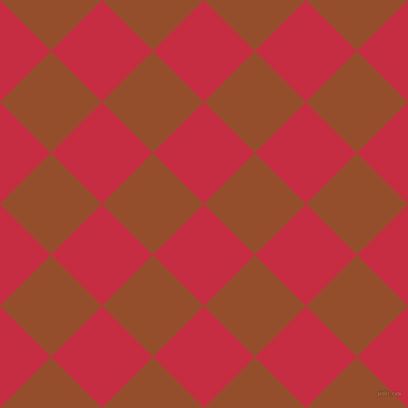 45/135 degree angle diagonal checkered chequered squares checker pattern checkers background, 105 pixel square size, , Brick Red and Alert Tan checkers chequered checkered squares seamless tileable