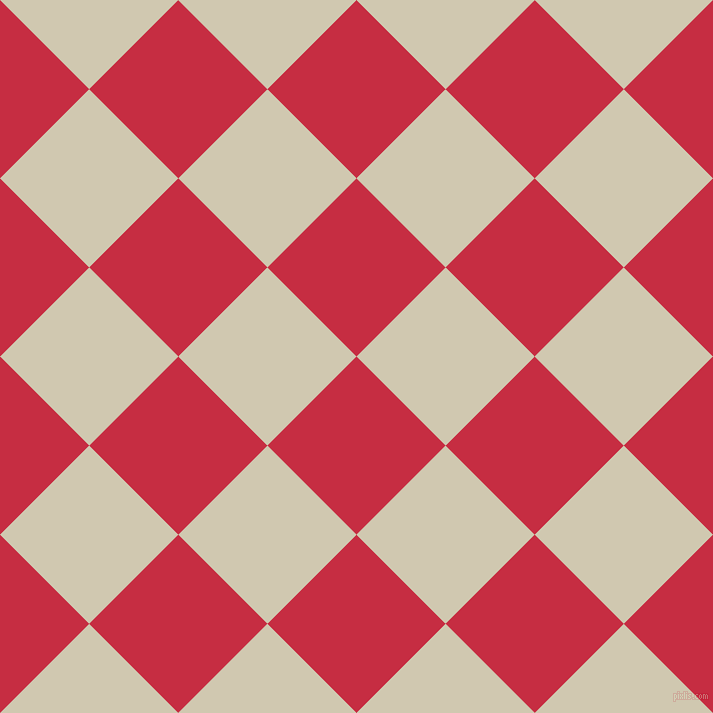 45/135 degree angle diagonal checkered chequered squares checker pattern checkers background, 126 pixel square size, , Brick Red and Parchment checkers chequered checkered squares seamless tileable
