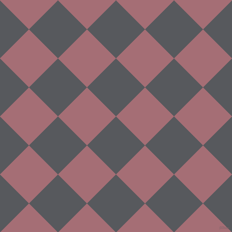 45/135 degree angle diagonal checkered chequered squares checker pattern checkers background, 142 pixel square size, , Bright Grey and Turkish Rose checkers chequered checkered squares seamless tileable