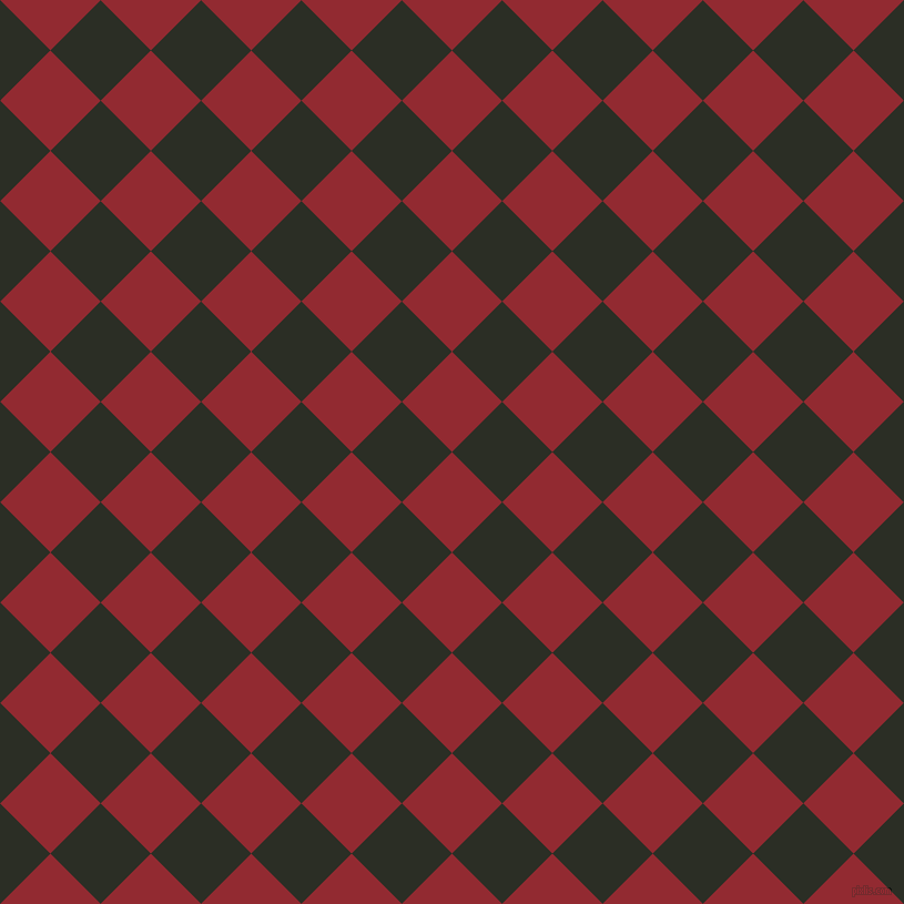 45/135 degree angle diagonal checkered chequered squares checker pattern checkers background, 64 pixel square size, , Bright Red and Rangoon Green checkers chequered checkered squares seamless tileable