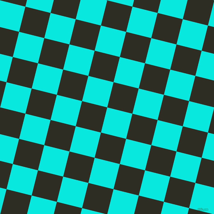 76/166 degree angle diagonal checkered chequered squares checker pattern checkers background, 86 pixel squares size, , Bright Turquoise and Karaka checkers chequered checkered squares seamless tileable
