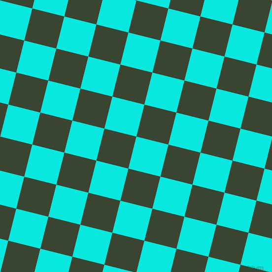 76/166 degree angle diagonal checkered chequered squares checker pattern checkers background, 67 pixel squares size, , Bright Turquoise and Mallard checkers chequered checkered squares seamless tileable
