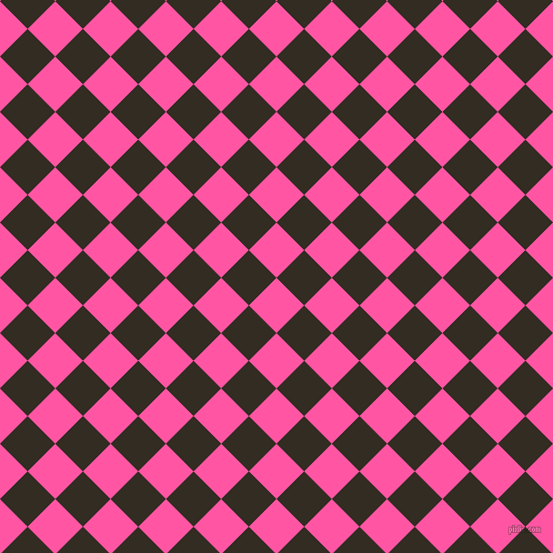 45/135 degree angle diagonal checkered chequered squares checker pattern checkers background, 43 pixel squares size, , Brilliant Rose and Black Magic checkers chequered checkered squares seamless tileable