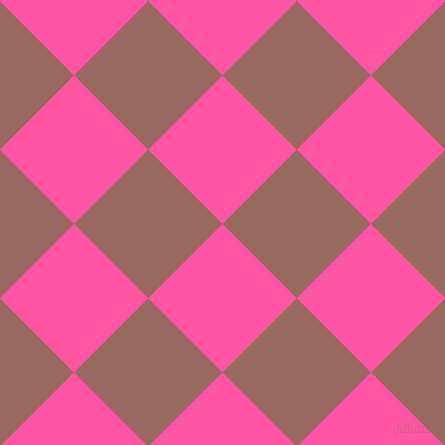45/135 degree angle diagonal checkered chequered squares checker pattern checkers background, 105 pixel square size, , Brilliant Rose and Dark Chestnut checkers chequered checkered squares seamless tileable