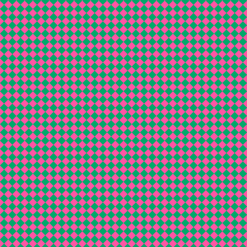 45/135 degree angle diagonal checkered chequered squares checker pattern checkers background, 12 pixel squares size, , Brilliant Rose and Jade checkers chequered checkered squares seamless tileable