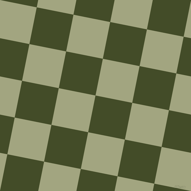 79/169 degree angle diagonal checkered chequered squares checker pattern checkers background, 121 pixel square size, Bronzetone and Locust checkers chequered checkered squares seamless tileable