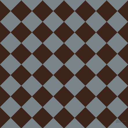 45/135 degree angle diagonal checkered chequered squares checker pattern checkers background, 52 pixel square size, , Brown Pod and Regent Grey checkers chequered checkered squares seamless tileable