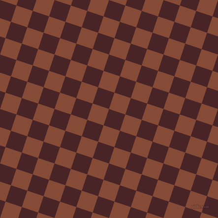 72/162 degree angle diagonal checkered chequered squares checker pattern checkers background, 35 pixel squares size, Bulgarian Rose and Paarl checkers chequered checkered squares seamless tileable