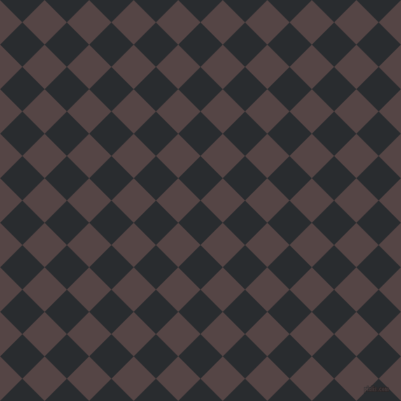 45/135 degree angle diagonal checkered chequered squares checker pattern checkers background, 45 pixel square size, , Bunker and Woody Brown checkers chequered checkered squares seamless tileable