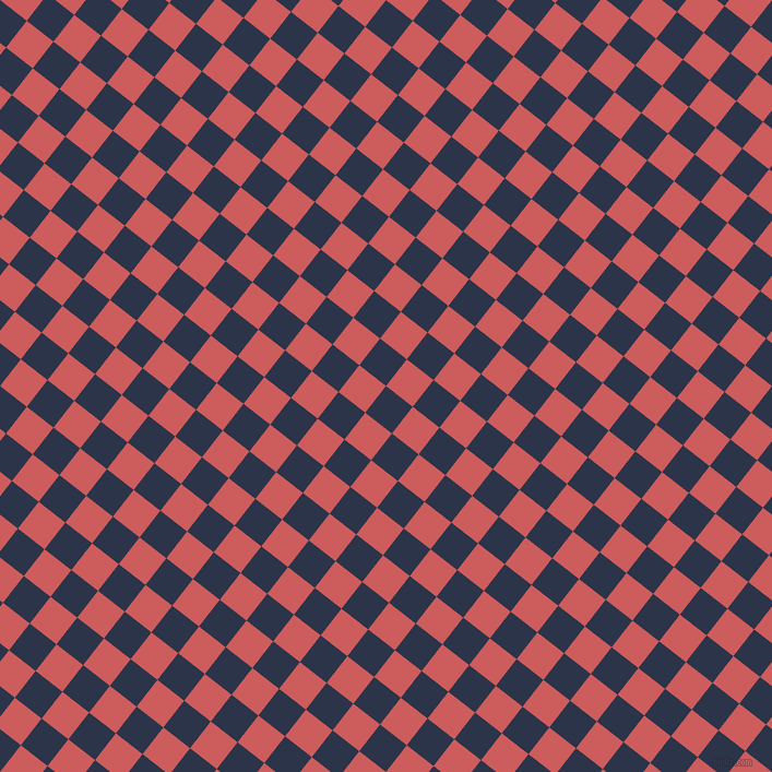 52/142 degree angle diagonal checkered chequered squares checker pattern checkers background, 31 pixel square size, , Bunting and Indian Red checkers chequered checkered squares seamless tileable