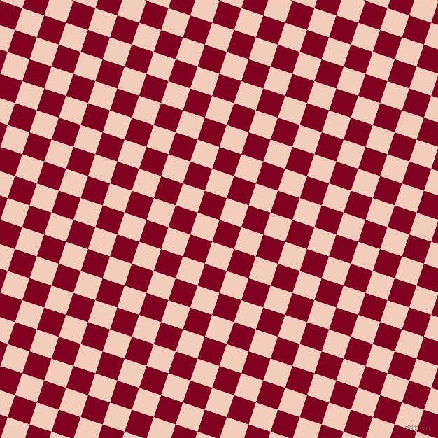 72/162 degree angle diagonal checkered chequered squares checker pattern checkers background, 33 pixel square size, , Burgundy and Watusi checkers chequered checkered squares seamless tileable