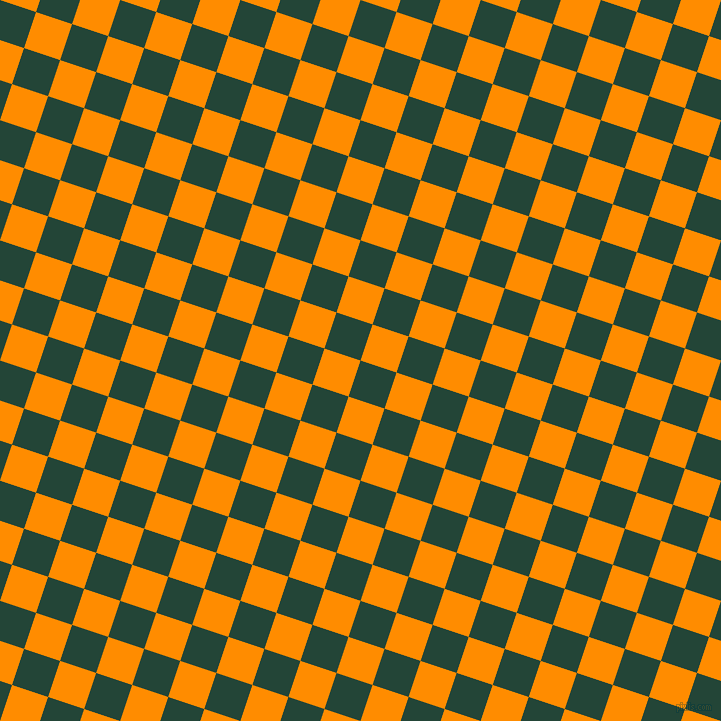 72/162 degree angle diagonal checkered chequered squares checker pattern checkers background, 38 pixel square size, , Burnham and Dark Orange checkers chequered checkered squares seamless tileable