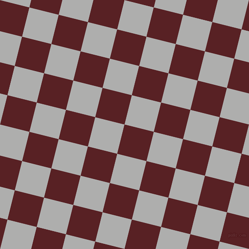 76/166 degree angle diagonal checkered chequered squares checker pattern checkers background, 59 pixel squares size, Burnt Crimson and Bombay checkers chequered checkered squares seamless tileable