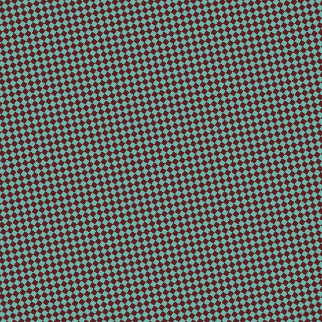 56/146 degree angle diagonal checkered chequered squares checker pattern checkers background, 10 pixel squares size, , Burnt Crimson and Gulf Stream checkers chequered checkered squares seamless tileable
