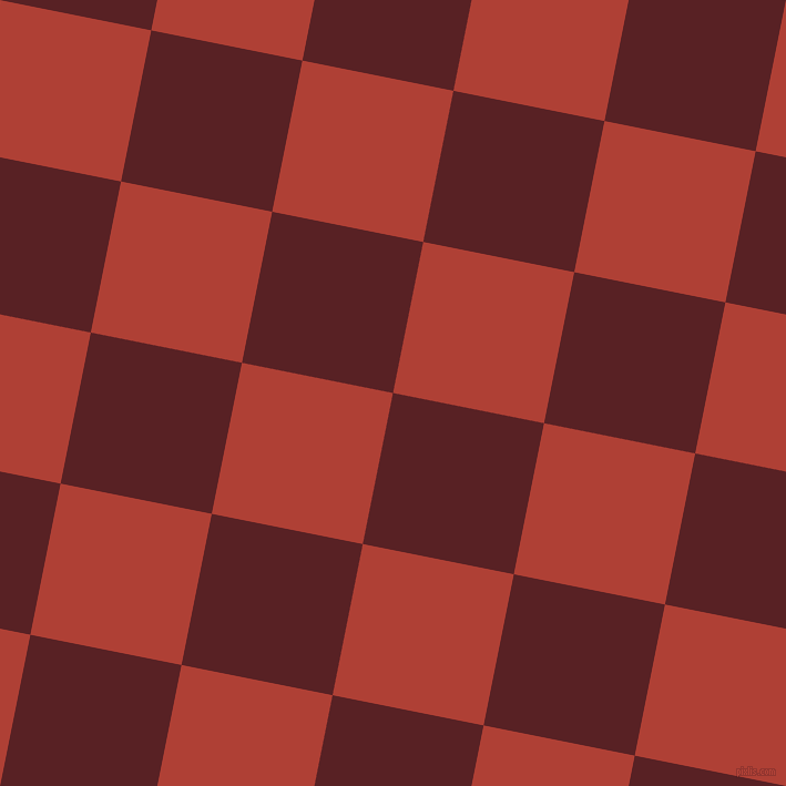79/169 degree angle diagonal checkered chequered squares checker pattern checkers background, 139 pixel square size, , Burnt Crimson and Medium Carmine checkers chequered checkered squares seamless tileable