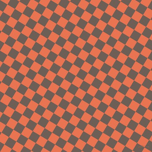 59/149 degree angle diagonal checkered chequered squares checker pattern checkers background, 28 pixel square size, Burnt Sienna and Dorado checkers chequered checkered squares seamless tileable