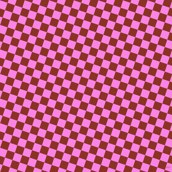 72/162 degree angle diagonal checkered chequered squares checker pattern checkers background, 30 pixel squares size, Burnt Umber and Pale Magenta checkers chequered checkered squares seamless tileable
