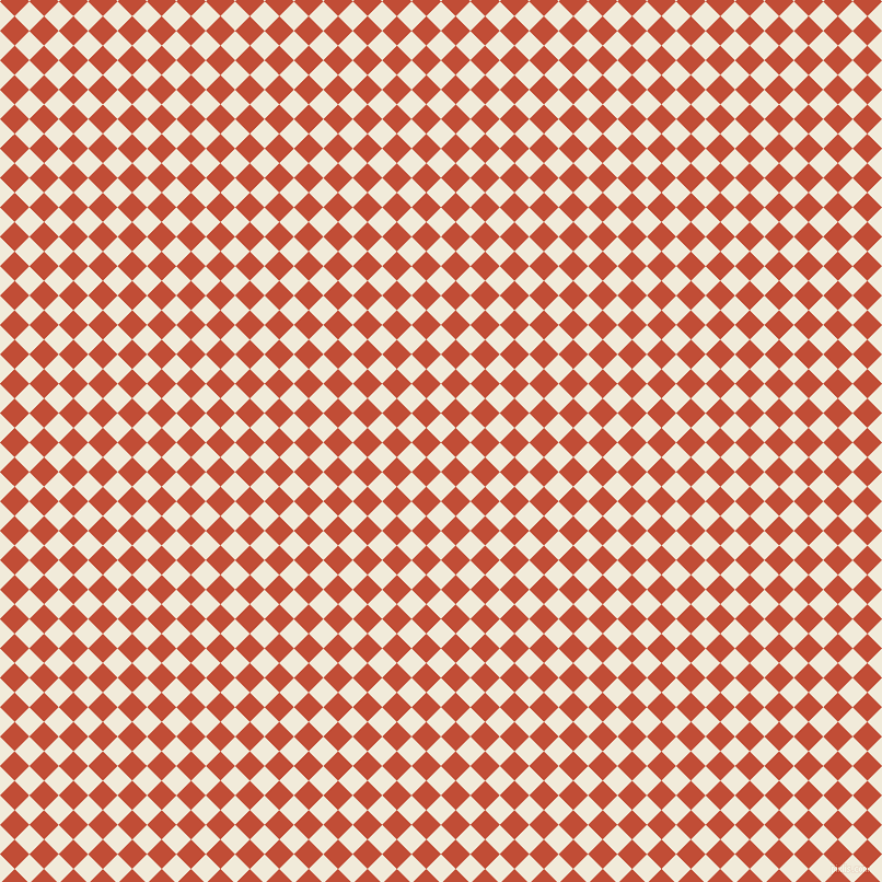 45/135 degree angle diagonal checkered chequered squares checker pattern checkers background, 19 pixel squares size, , Buttery White and Grenadier checkers chequered checkered squares seamless tileable