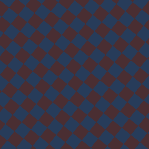 51/141 degree angle diagonal checkered chequered squares checker pattern checkers background, 39 pixel squares size, , Cab Sav and Catalina Blue checkers chequered checkered squares seamless tileable