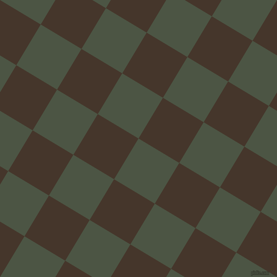59/149 degree angle diagonal checkered chequered squares checker pattern checkers background, 95 pixel square size, Cabbage Pont and Dark Rum checkers chequered checkered squares seamless tileable