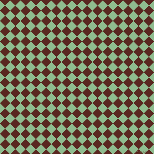 45/135 degree angle diagonal checkered chequered squares checker pattern checkers background, 24 pixel squares size, , Caput Mortuum and Dark Sea Green checkers chequered checkered squares seamless tileable