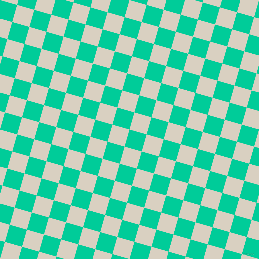 74/164 degree angle diagonal checkered chequered squares checker pattern checkers background, 62 pixel squares size, , Caribbean Green and Blanc checkers chequered checkered squares seamless tileable