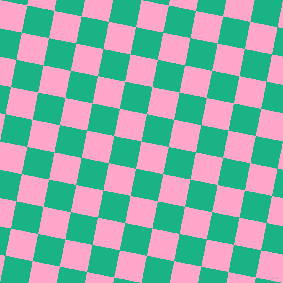 79/169 degree angle diagonal checkered chequered squares checker pattern checkers background, 94 pixel squares size, , Carnation Pink and Mountain Meadow checkers chequered checkered squares seamless tileable