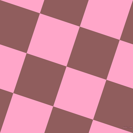 72/162 degree angle diagonal checkered chequered squares checker pattern checkers background, 166 pixel squares size, , Carnation Pink and Rose Taupe checkers chequered checkered squares seamless tileable