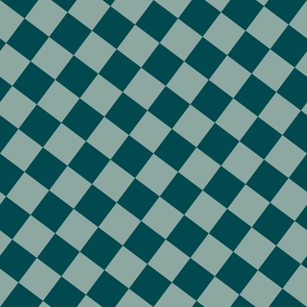 53/143 degree angle diagonal checkered chequered squares checker pattern checkers background, 62 pixel squares size, , Cascade and Sherpa Blue checkers chequered checkered squares seamless tileable