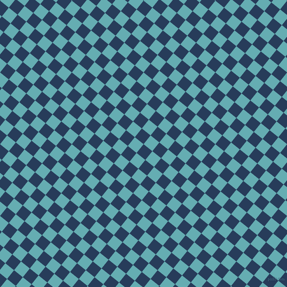 51/141 degree angle diagonal checkered chequered squares checker pattern checkers background, 23 pixel squares size, , Catalina Blue and Fountain Blue checkers chequered checkered squares seamless tileable