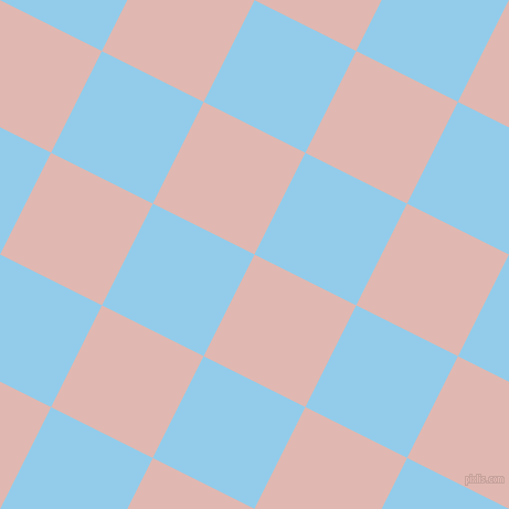 63/153 degree angle diagonal checkered chequered squares checker pattern checkers background, 103 pixel squares size, Cavern Pink and Cornflower checkers chequered checkered squares seamless tileable