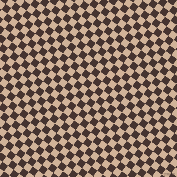 54/144 degree angle diagonal checkered chequered squares checker pattern checkers background, 22 pixel squares size, , Cedar and Cashmere checkers chequered checkered squares seamless tileable